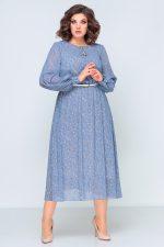 396 голубое платье перед