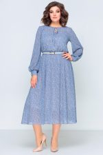 396 голубое платье