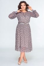 396 кофейный платье перед