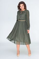 396 платье зеленое перед