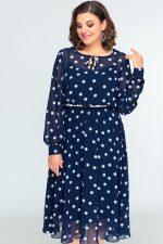 396 платье синее
