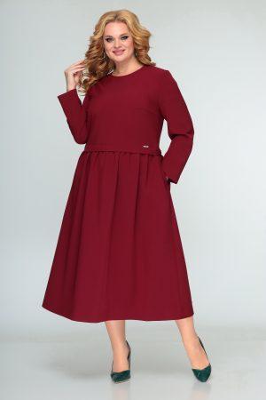 407 платье бордо